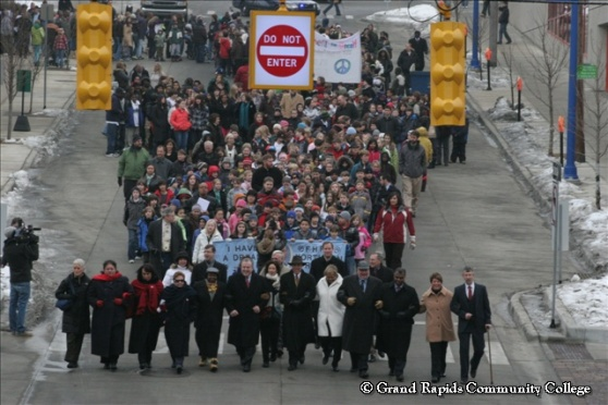 GRCC Community Peace March Honoring Martin Luther King