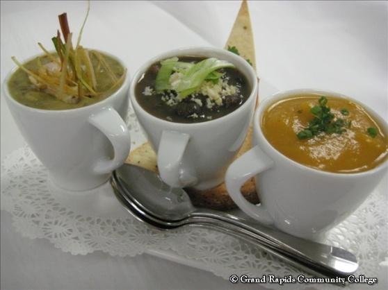 The Soup Sampler at GRCC's Heritage Restaurant