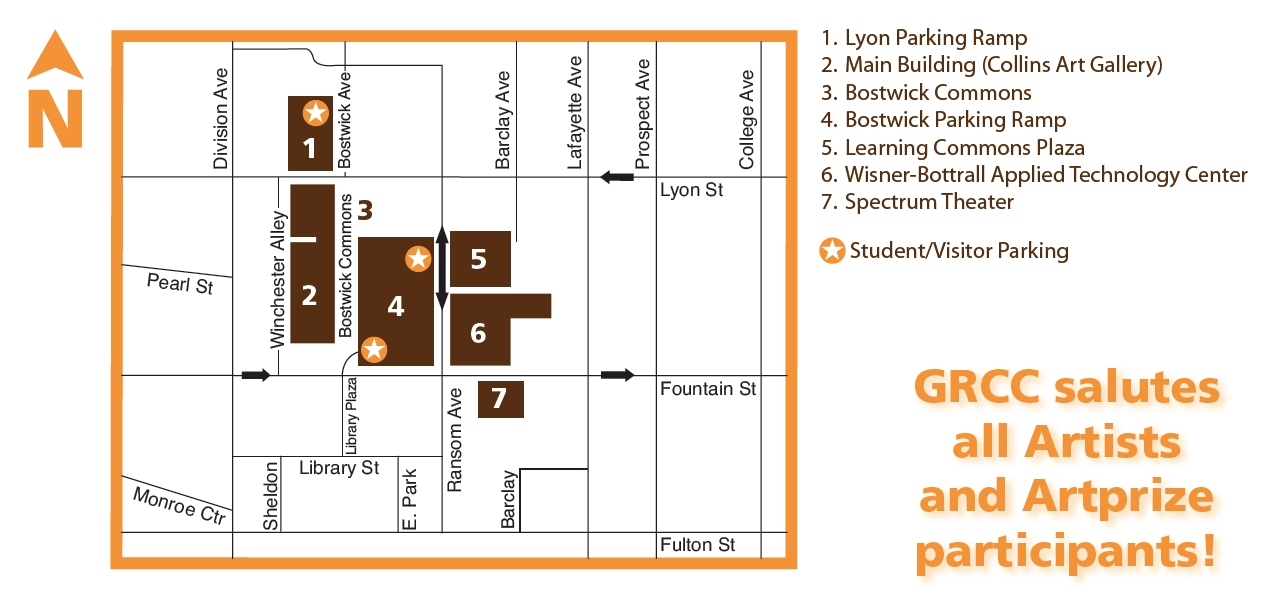 grand rapids community college campus map Artprize At Grcc Includes Map Grcc Today grand rapids community college campus map