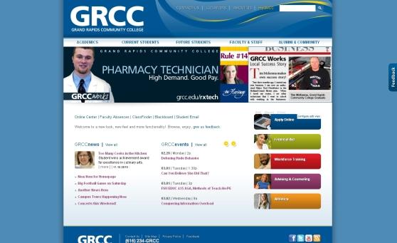 GRCC Website Preview