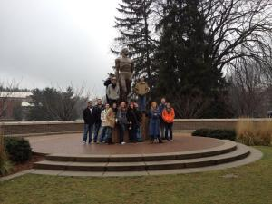 GRCC students during a campus visit to Michigan State University.