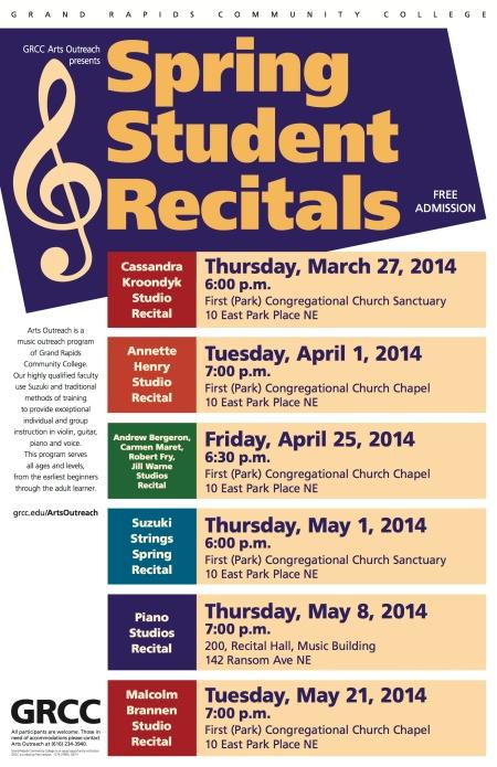 2014 Spring Recitals