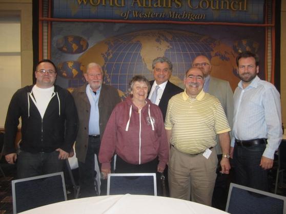 From left: KC Weaver, Roger Schlosser, Dorothy Mapes, John Heredia, Steve Abid, Gordan Vurusic and  Keith St. Clair