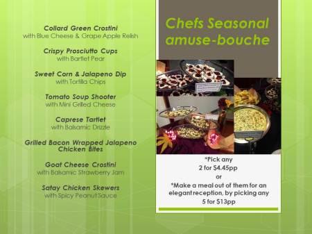 Chefs Seasonal amuse-bouche