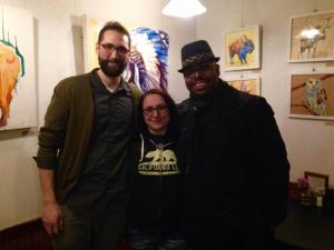 From left, Ian Thompson, Amber Borrello and Christian McBride. (Photo courtesy of St. Cecilia Music Center.)