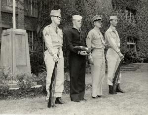The Memorial Campus dedication in 1949.