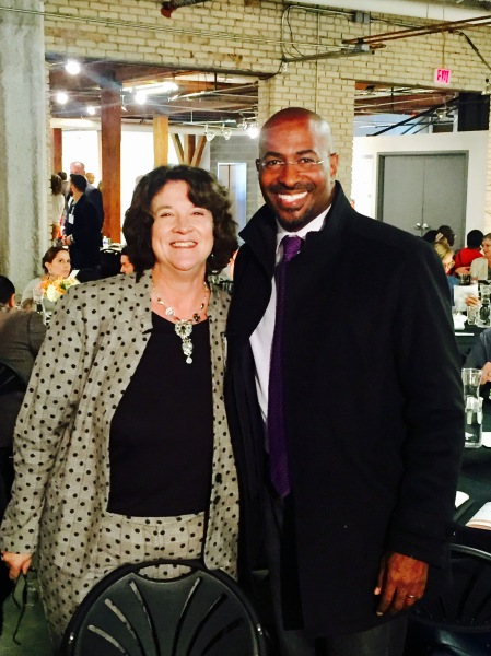 Julie Parks stands next to Van Jones