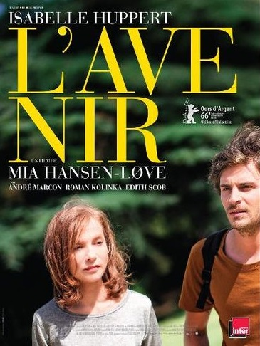 Isabelle Huppert. L'Avenir. Mia Hansen-Love. Andre Marcon. Roman Kolinka. Edist Scob.