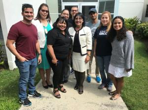 GRCC student Paulina Cartes-Brito with the staff at the Universidad del Turabo in Puerto Rico