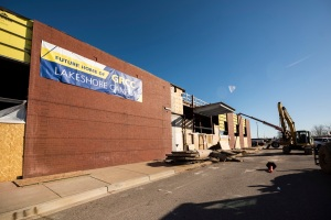 Picture of construction at Lakeshore campus.